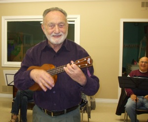 Retired music teacher Dennis Murphy brings over 20 years of experience to instructing beginner ukulele players.