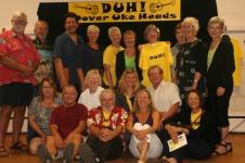 The DUH gang posing with Jim and Liz Beloff