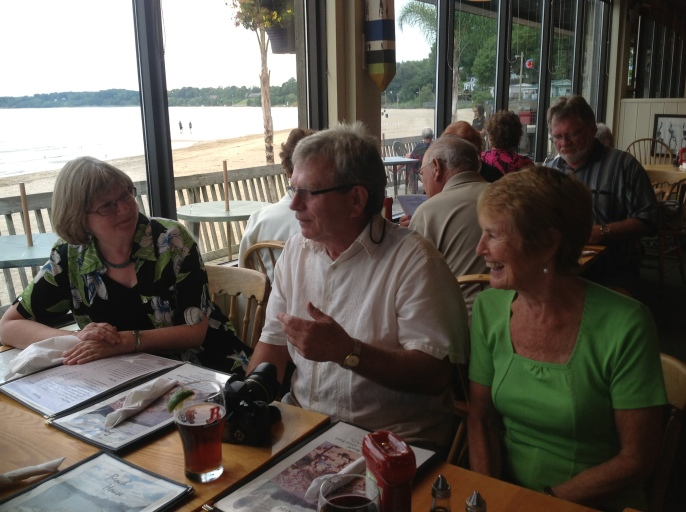 Perch dinner at Callahan's on the Beach