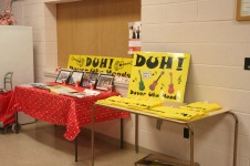 DUH display table and T-shirt sales