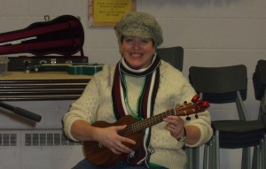 Big thank you to Mandy for helping lead the songs with Pete