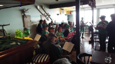 A small but appreciative group of patrons listened to our Irish songs on Sunday March 15th